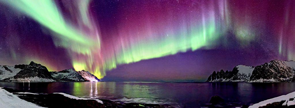 Photo Montagnes du Monde - Aurore boréale en Norvège - © Lionel Caracci Krom Galerie