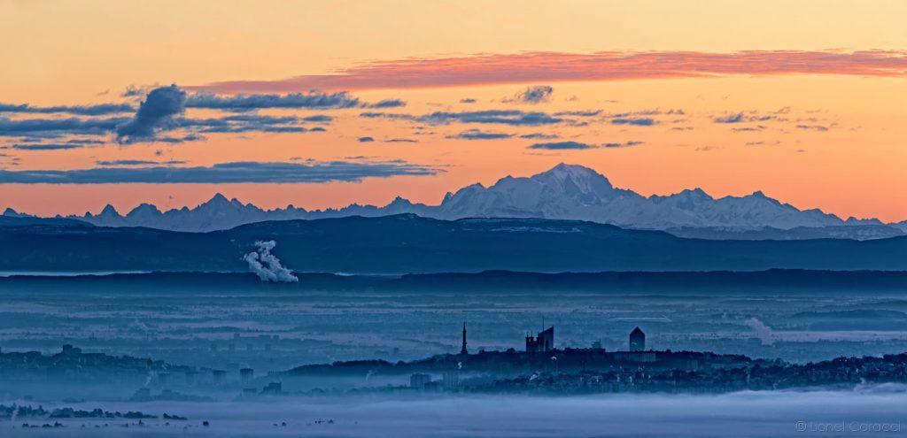 Photo Lyon et Alpes- Mont Blanc - © Lionel Caracci Krom Galerie