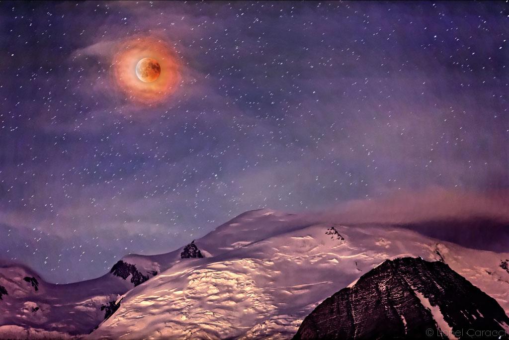 Eclipse sur Mont-Blanc