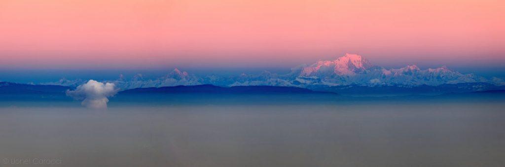Photo des Alpes - Mont Blanc et Nuages - © Lionel Caracci Krom Galerie