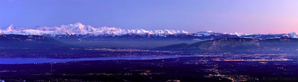 Photo des Alpes - Mont Blanc et Léman - © Lionel Caracci Krom Galerie