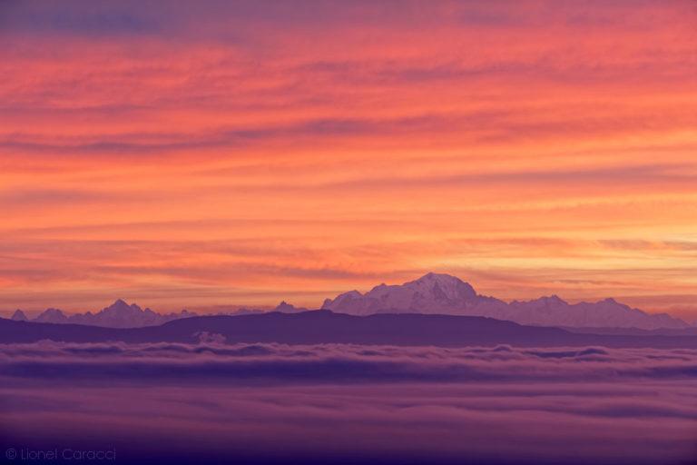 Photo des Alpes - Mont Blanc et brume - © Lionel Caracci Krom Galerie