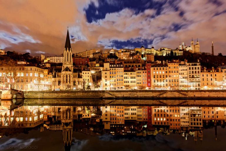 Photo Lyon Nuit - Quais de Saône - © Lionel Caracci Krom Galerie