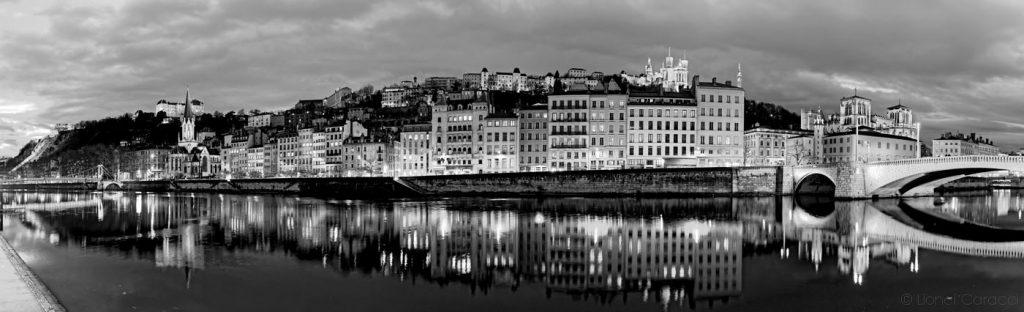 Photo Lyon noir et blanc - Quais de Saône - © Lionel Caracci Krom Galerie