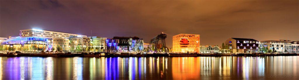 Photo Lyon Nuit - Docks de Confluence - © Lionel Caracci Krom Galerie
